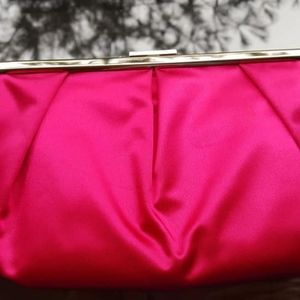 Evening Bag / Banana Republic / Clutch / Hot Pink